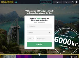 Dunder Casino - Ett snyggt casino